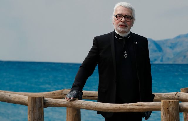 Fashion designer Karl Lagerfeld poses after the presentation of Chanel Spring/Summer 2019 ready-to-wear fashion collection in Paris, Tuesday, Oct.2, 2018Fashion 2018 Chanel, Paris, France - 02 Oct 2018