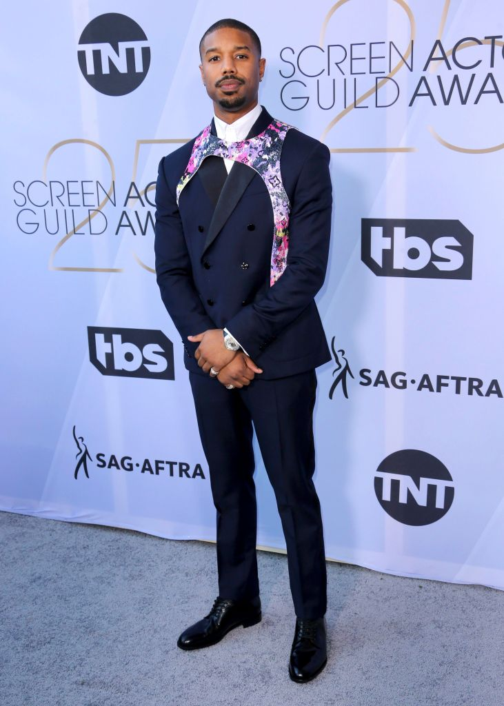 Michael B. Jordan arrives at the 25th annual Screen Actors Guild Awards at the Shrine Auditorium & Expo Hall, in Los Angeles25th Annual SAG Awards - Arrivals, Los Angeles, USA - 27 Jan 2019