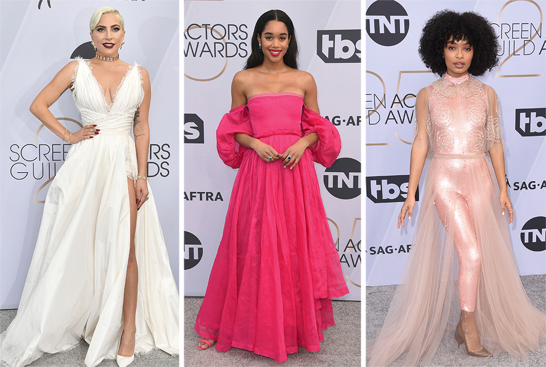 Lady Gaga, Laura Harrier and Yara Shahidi.