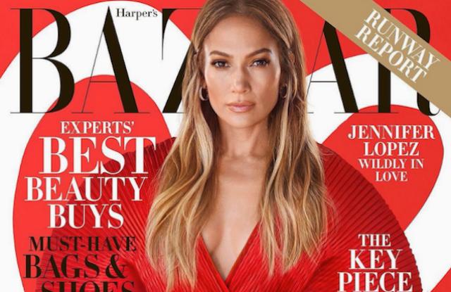 Jennifer Lopez on Harper's Bazaar February cover.