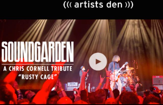 "A screenshot of ""Live from the Artists Den."""