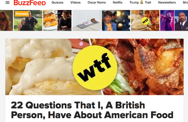 BuzzFeed homepage.