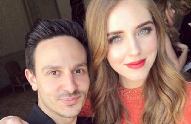 Alessio Sanzogni and Chiara Ferragni