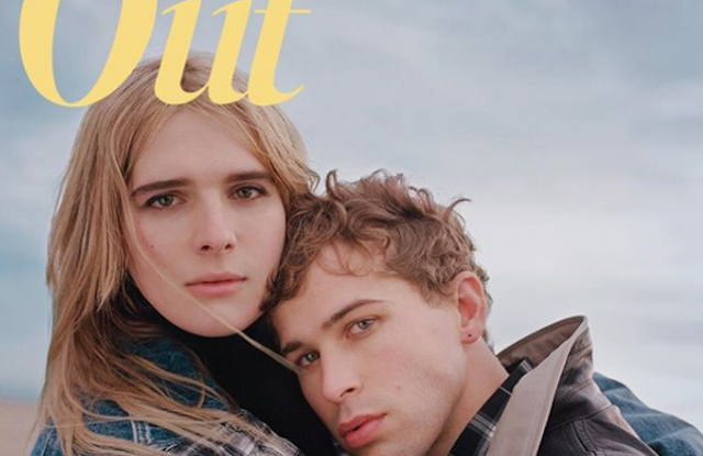Out's redesigned February cover featuring Hari Neff