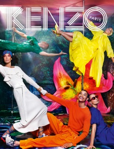 David LaChappelle created a colorful paradise for Kenzo.