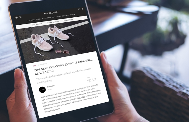 Global Fashion Group, The Iconic's mobile site