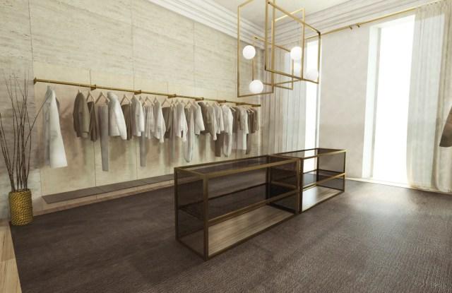 The Brett Johnson showroom in Milan.