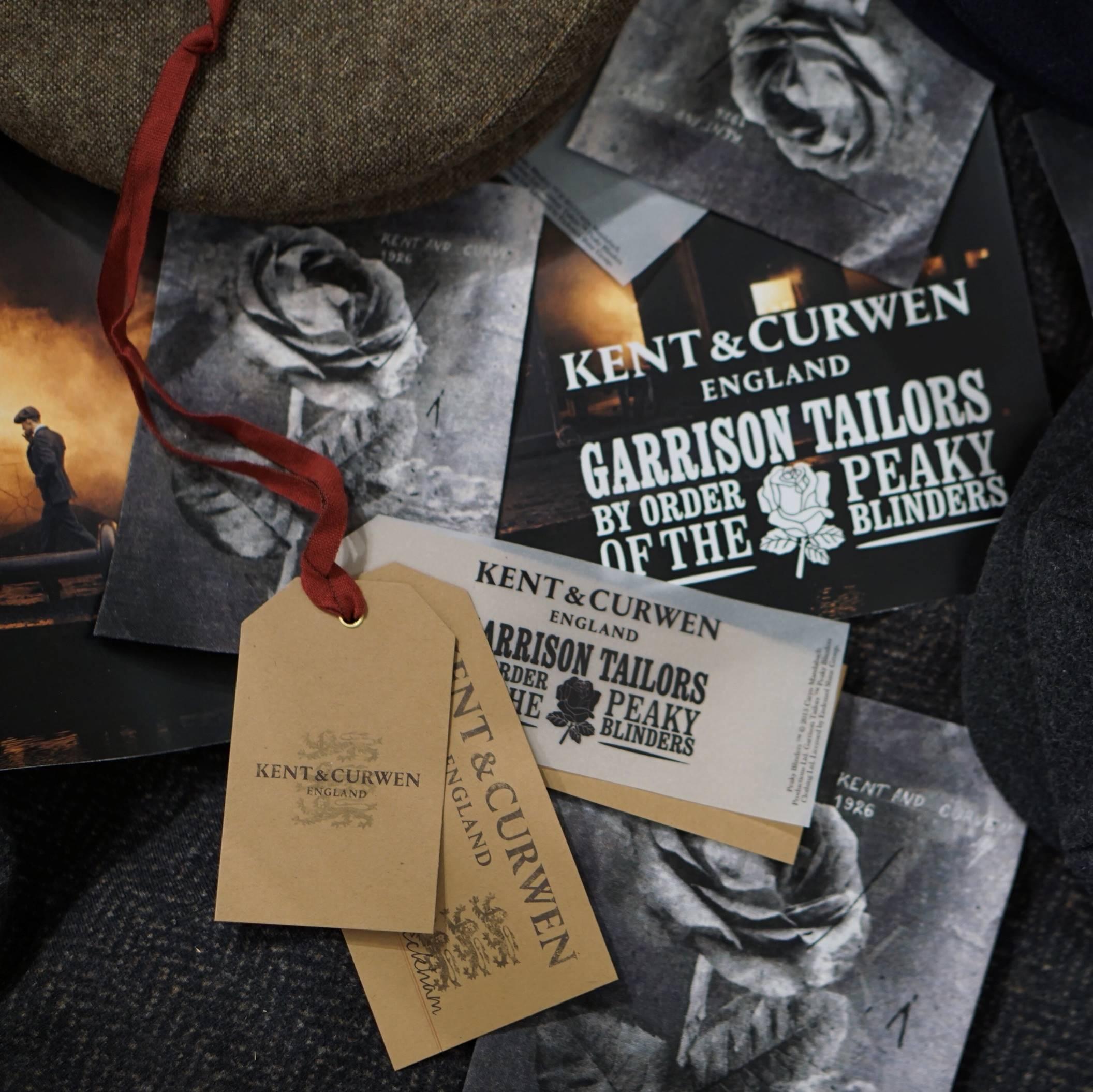 "Branding for Kent & Curwen ""Peaky Blinders"" collaboration."