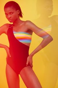 A bathing suit from the Jean-Charles de Castelbajac capsule for Vilebrequin.