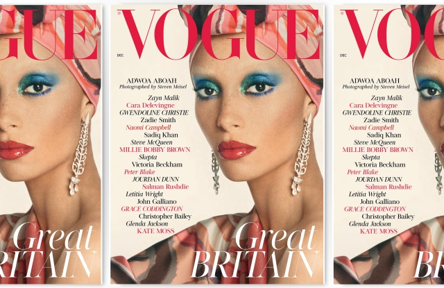 Adoah Abowa on the December 2017 cover of British Vogue