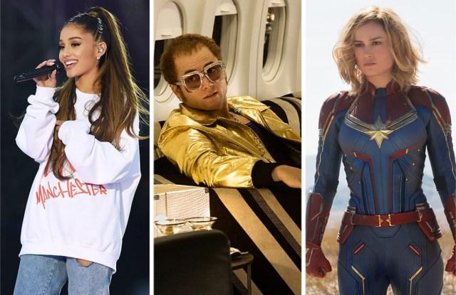 """Ariana Grande, """"Rocketman,"""" and """"Captain Marvel."""""""