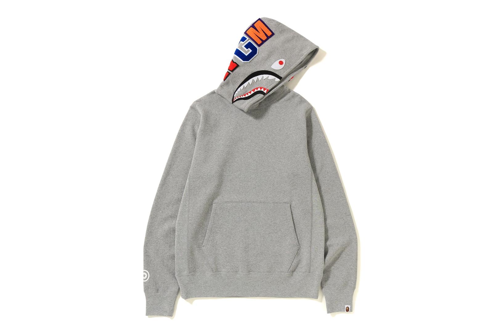 A Bathing Ape's signature shark hoodie.