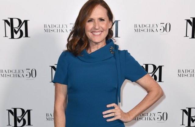 NEW YORK, NY - FEBRUARY 07:  Actress Molly Shannon attends the Badgley Mischka front row during New York Fashion Week: The Shows at Gallery I at Spring Studios on February 7, 2019 in New York City.  (Photo by Nicholas Hunt/Getty Images for Badgley Mischka)