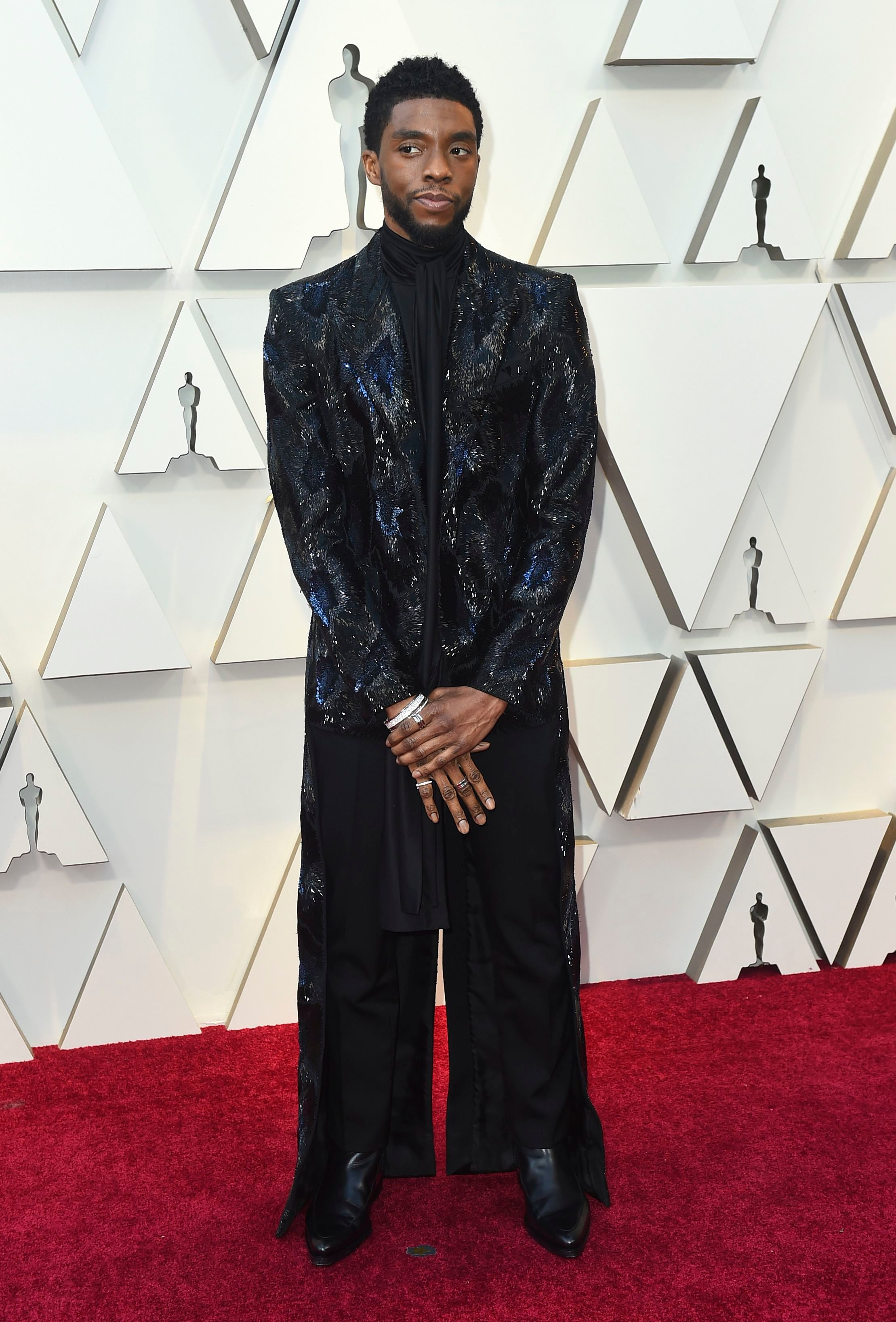 Chadwick Boseman in Givenchy Couture, 2019 Oscars