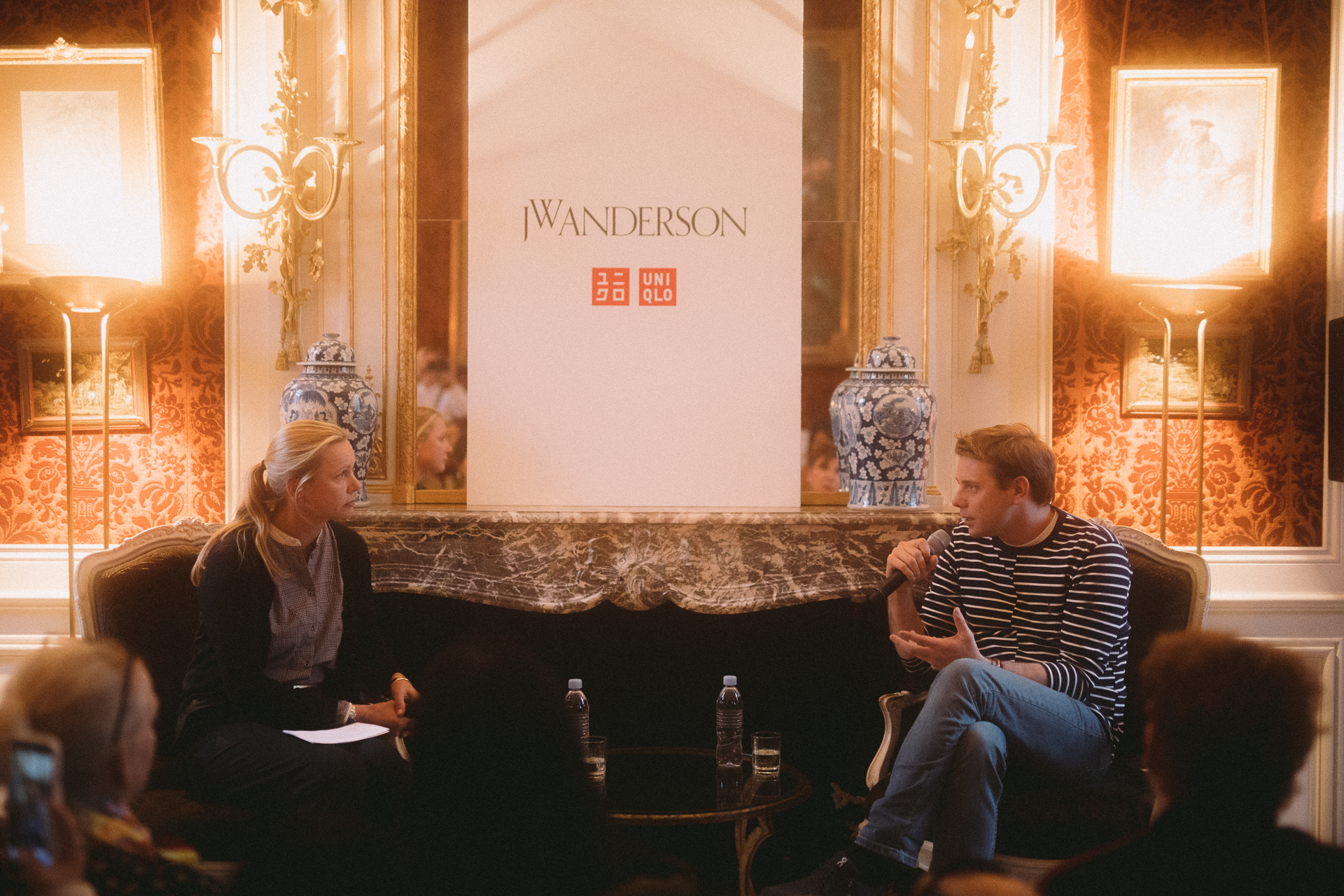 Jonathan Anderson at the Uniqlo press conference on Monday
