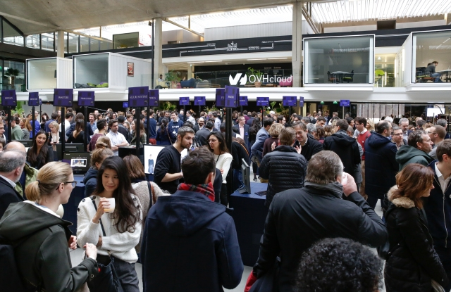 The crowd at Station F included startups in the LVMH program