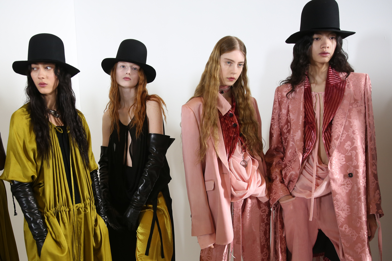 Backstage at Ann Demeulemeester RTW Fall 2019, photographed in Paris on February 28, 2019.