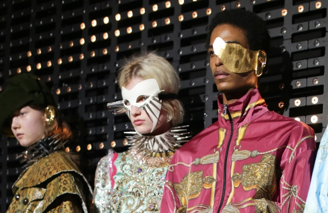 Backstage at Gucci RTW Fall 2019