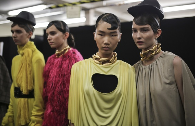 Backstage at JW Anderson RTW Fall 2019