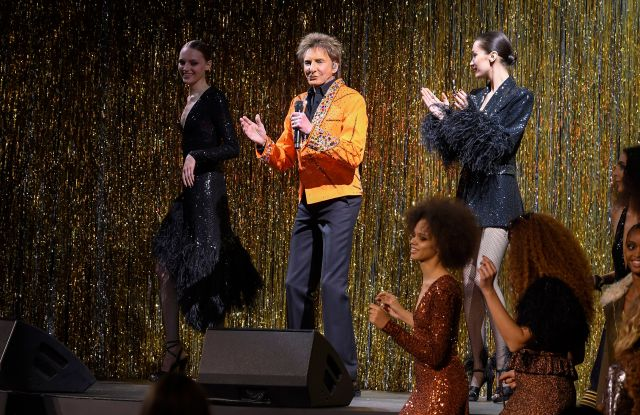 Barry Manilow performingMichael Kors show, Runway, Fall Winter 2019, New York Fashion Week, USA - 13 Feb 2019