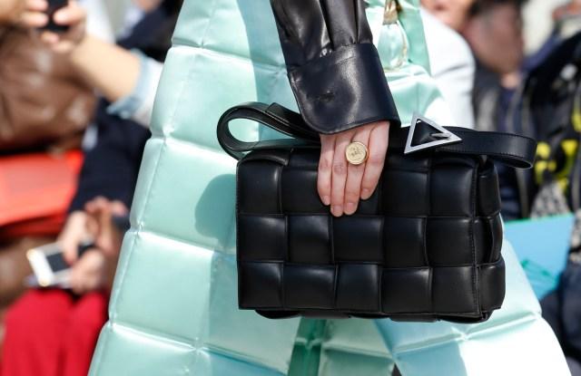 Bottega Veneta's new creative director Daniel Lee maximized the brandÕs signature Intrecciato weaving for structured bags with a puffy feel.