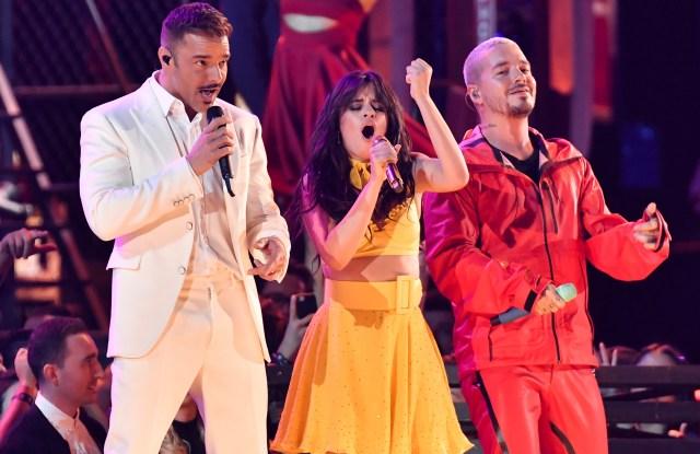 Ricky Martin, Camila Cabello and J Balvin61st Annual Grammy Awards, Show, Los Angeles, USA - 10 Feb 2019