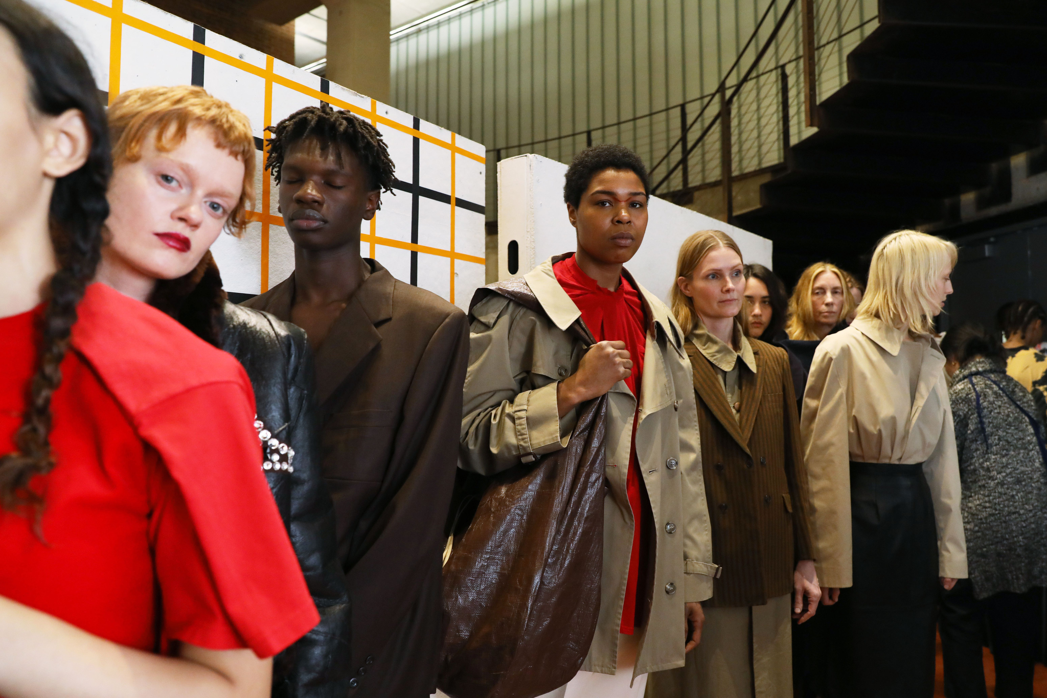 Backstage at CDLM RTW Fall 2019