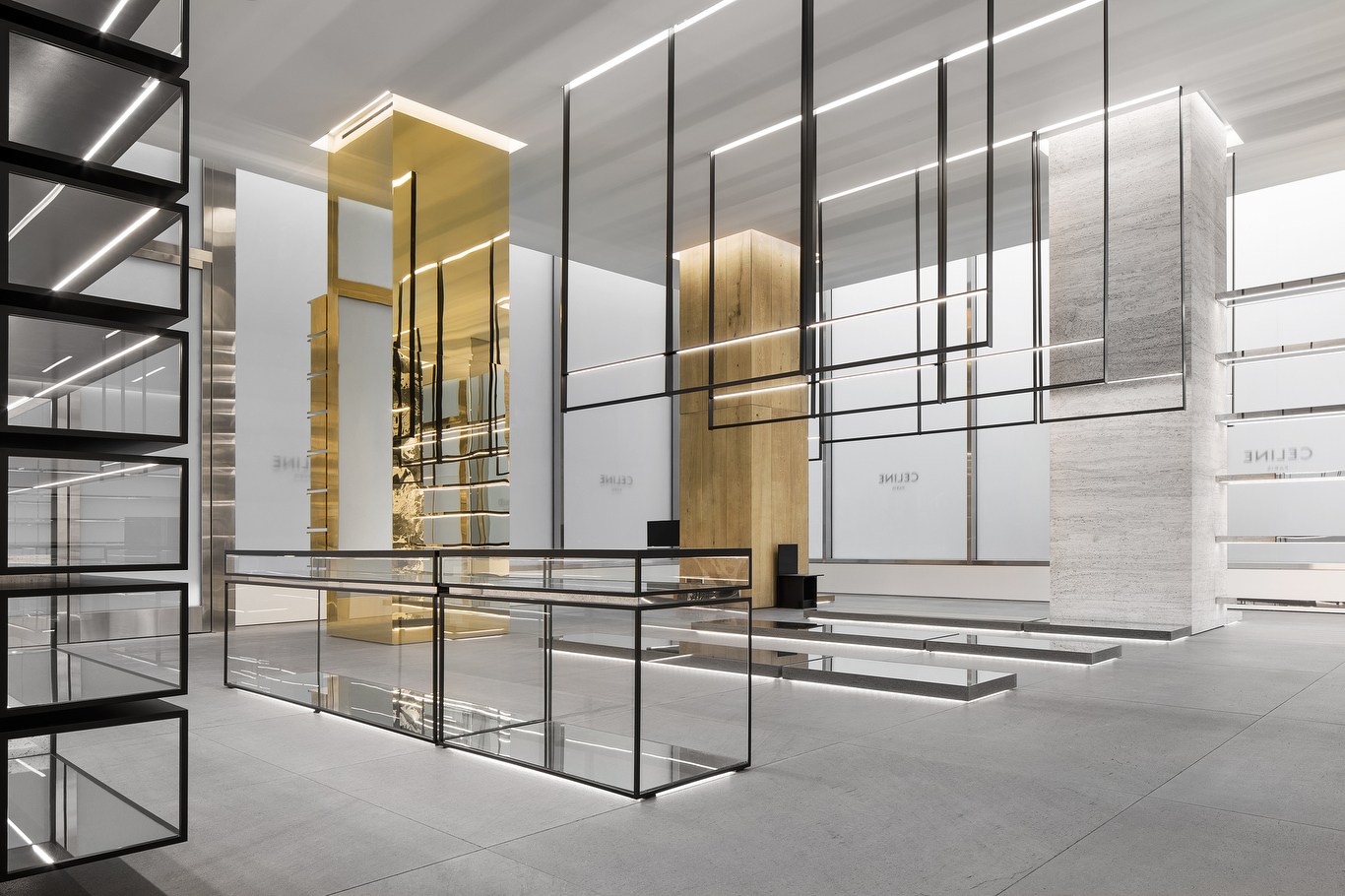 The new Celine flagship on Madison Avenue in Manhattan, designed by Hedi Slimane.