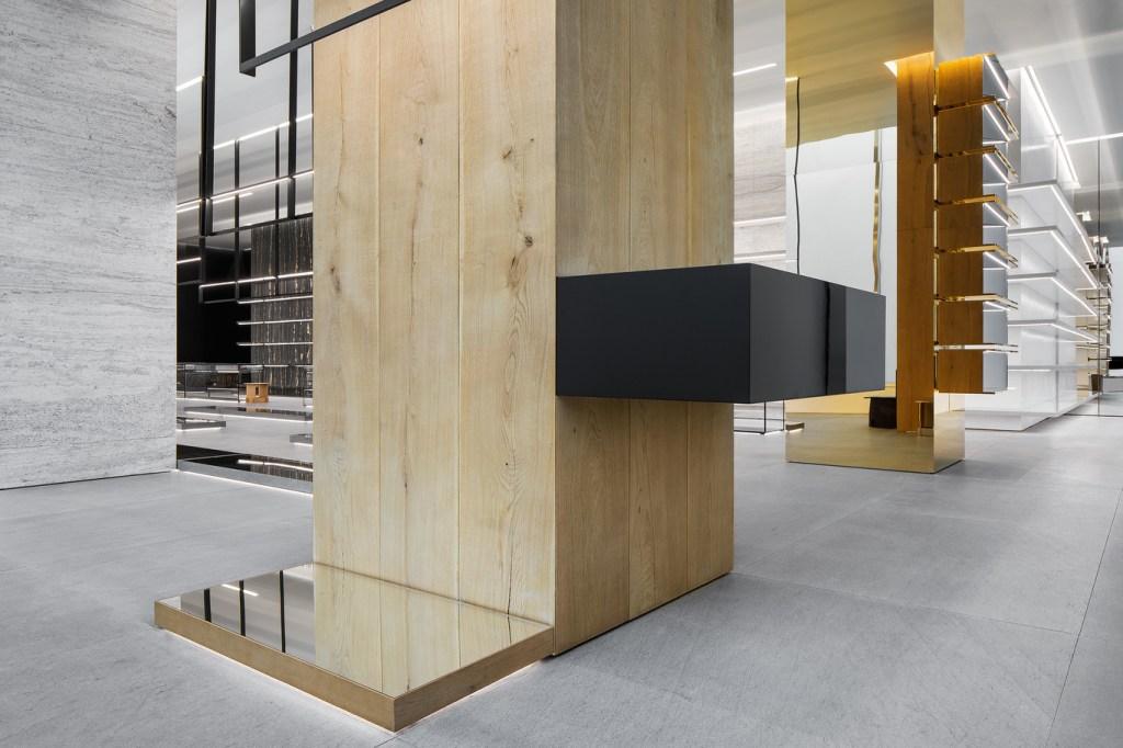 The new Celine flagship on Madison Avenue in Manhattan, designed by Hedi Slimane.