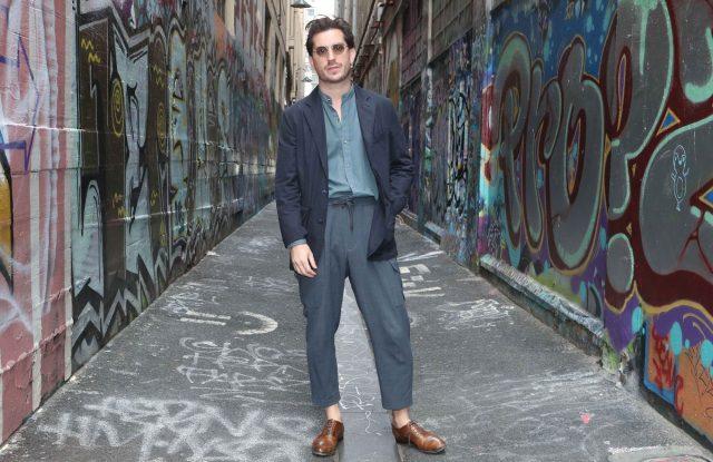 Melbourne-based men's wear designer Christian Kimber, 2019 winner of Australia's National Designer Award