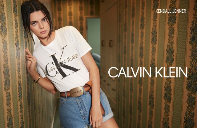 An image from Calvin Klein's Jeans campaign featuring Kendall Jenner.