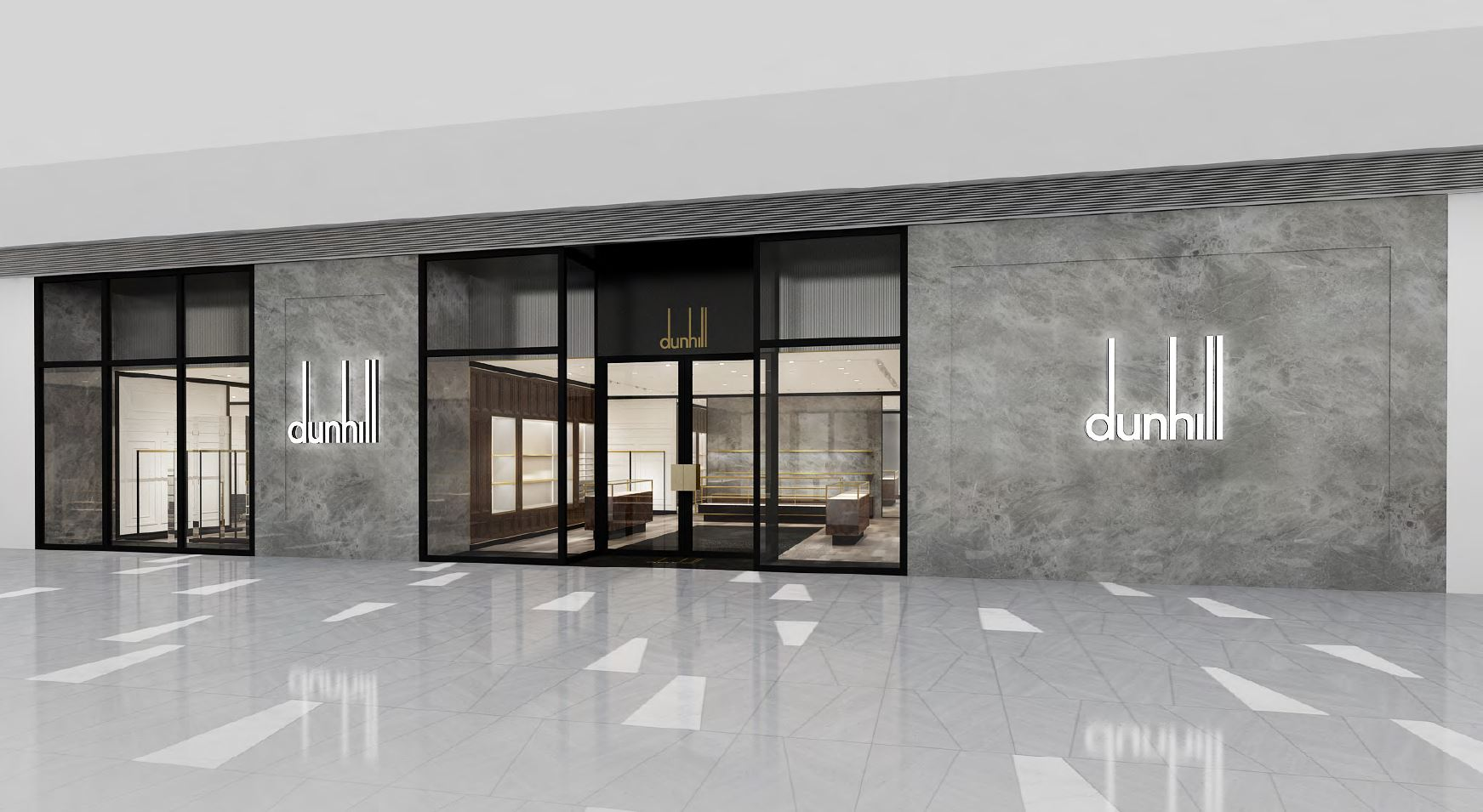 A rendering of the Dunhill store at Hudson Yards.