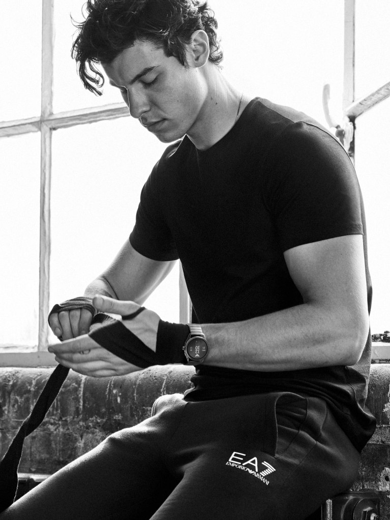 Shawn Mendes starring in the latest Emporio Armani watches ad campaign.