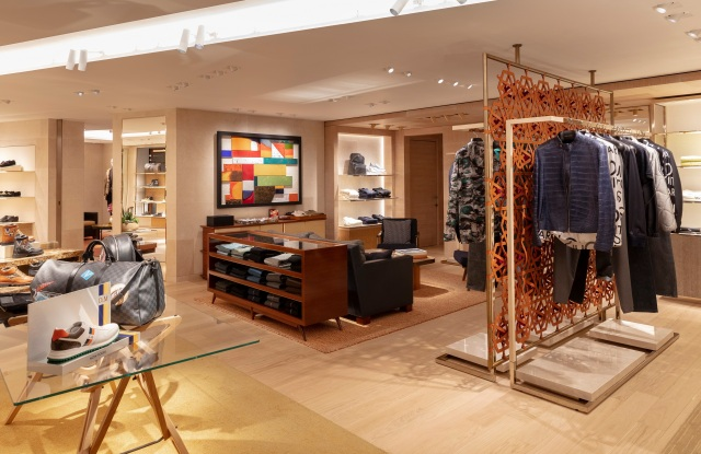 A view of the new Louis Vuitton men's space at Harrods.