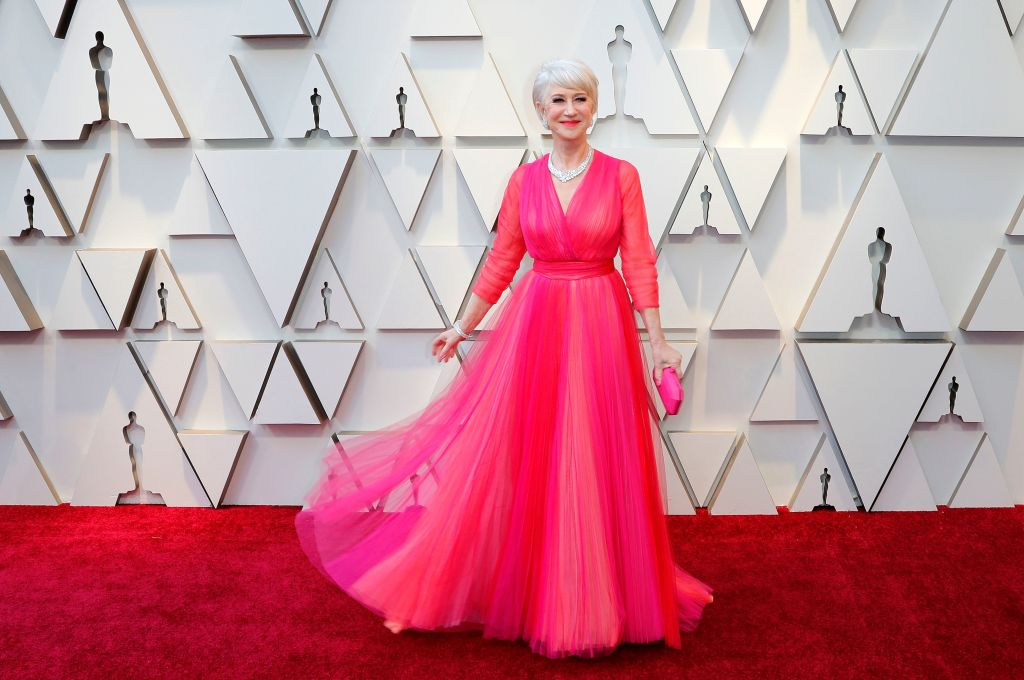 Helen Mirren arrives for the 91st annual Academy Awards ceremony at the Dolby Theatre in Hollywood, California, USA, 24 February 2019. The Oscars are presented for outstanding individual or collective efforts in 24 categories in filmmaking.Arrivals - 91st Academy Awards, Los Angeles, USA - 24 Feb 2019