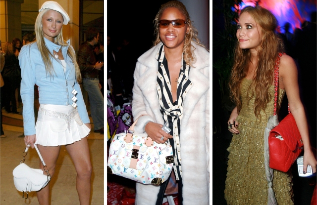 Celebrities proudly toting 'It' bags in the early Aughts.