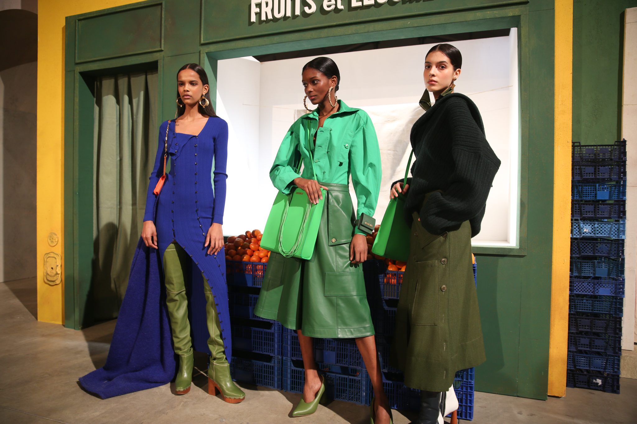 Backstage at Jacquemus RTW Fall 2019