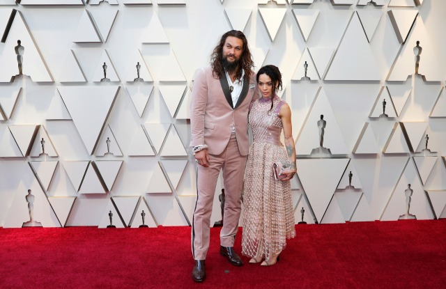 Jason Momoa (L) and Lisa Bonet (R) arrive for the 91st annual Academy Awards ceremony at the Dolby Theatre in Hollywood, California, USA, 24 February 2019. The Oscars are presented for outstanding individual or collective efforts in 24 categories in filmmaking.Arrivals - 91st Academy Awards, Los Angeles, USA - 24 Feb 2019