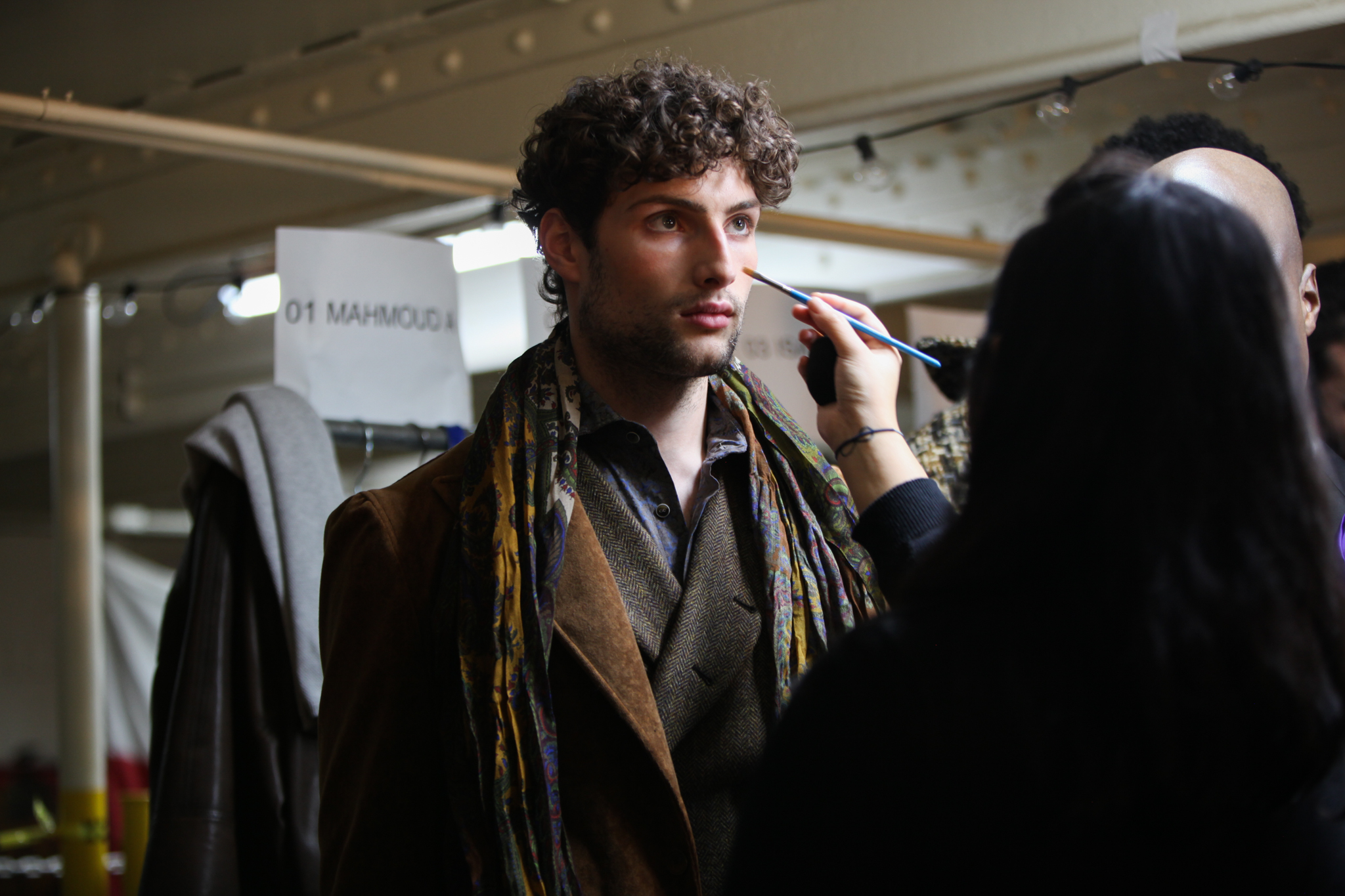 Backstage at Joseph Abboud Mens Fall 2019