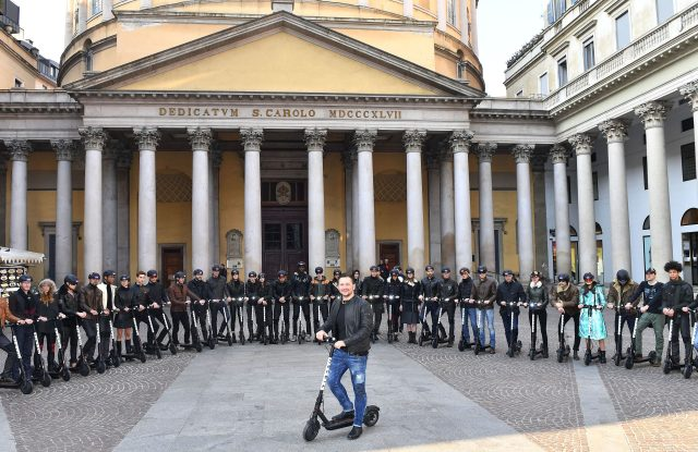 Matchless London's models in the streets of Milan