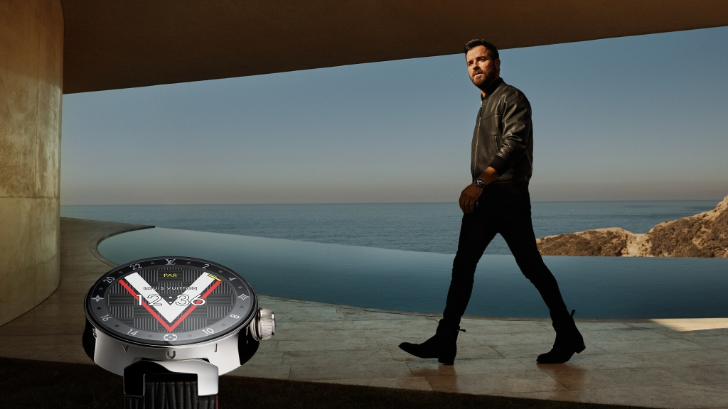 Justin Theroux in the Louis Vuitton Tambour 2 campaign