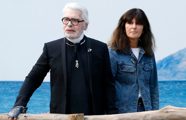 Karl Lagerfeld and Virginie Viard
