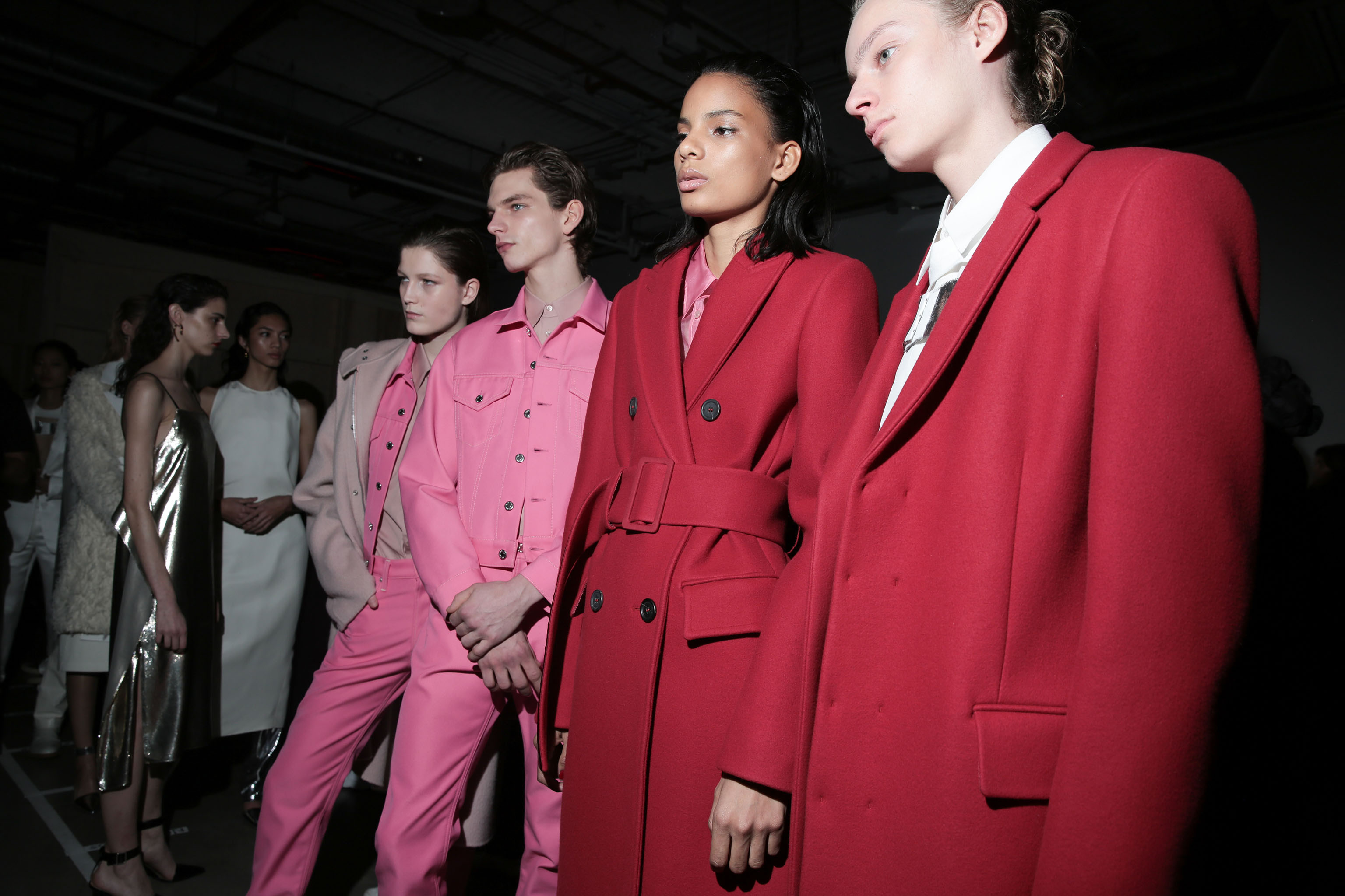 Backstage at Helmut Lang RTW Fall 2019