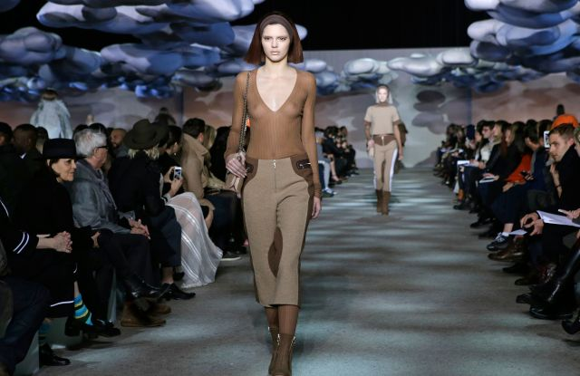Kendall Jenner EDS NOTE NUDITY - Kendall Jenner walks the runway during the showing of the Marc Jacobs Fall 2014 collection at Fashion Week in New YorkNY Fashion Week Marc Jacobs, New York, USA