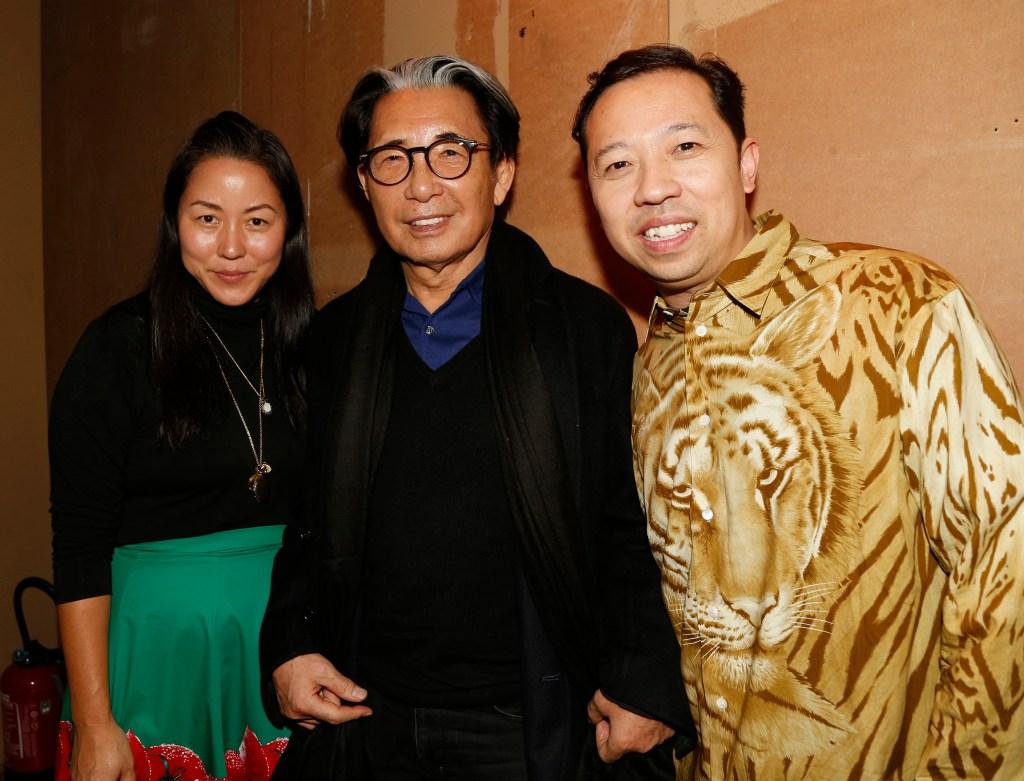 Carol Lim, Kenzo Takada and Humberto Leon in the front row