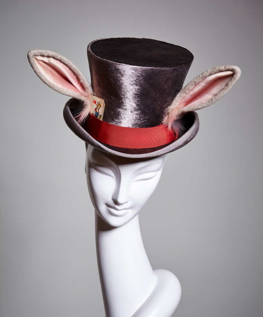"""A piece on display at the """"Stephen Jones Hats"""" exhibition"""
