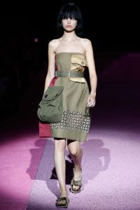 A model on the runway at Marc Jacobs spring 2015 show at Park Avenue Armory.Marc Jacobs Spring 2015 RTW, New York