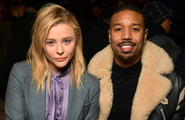 Chloe Grace Moretz and Michael B. Jordan in the front rowCoach show, Front Row, Fall Winter 2019, New York Fashion Week, USA - 12 Feb 2019