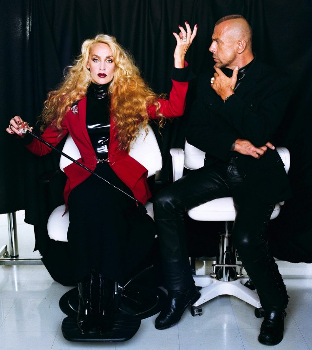 Jerry Hall and Thierry Mugler by Patrice Stable, Paris, 1996.