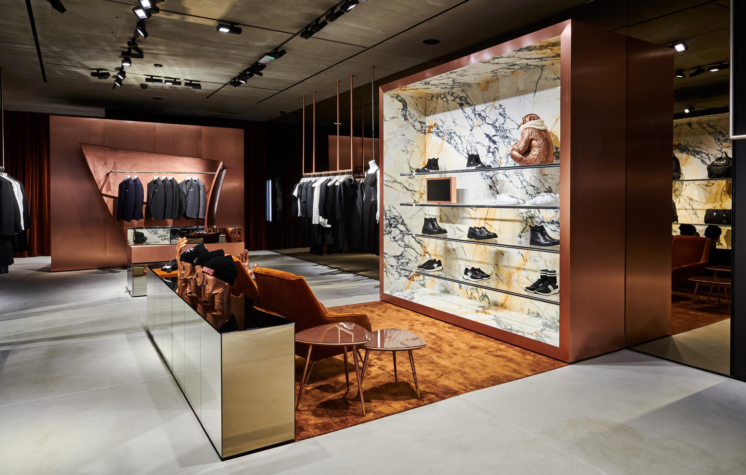 Neil Barrett's new London store on Conduit Street.